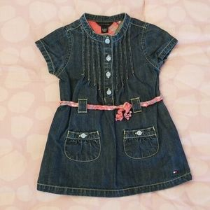 EUC! Tommy Hilfiger baby girl denim dress size 12m